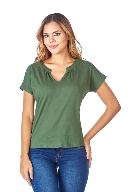 Camiseta-QUEST-Custom-Fit-QUE263LW0023-38-Verde-Militar-1