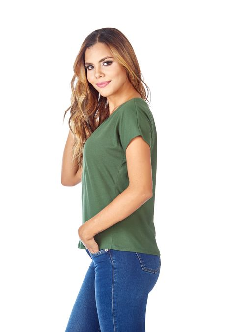 Camiseta-QUEST-Custom-Fit-QUE263LW0023-38-Verde-Militar-2