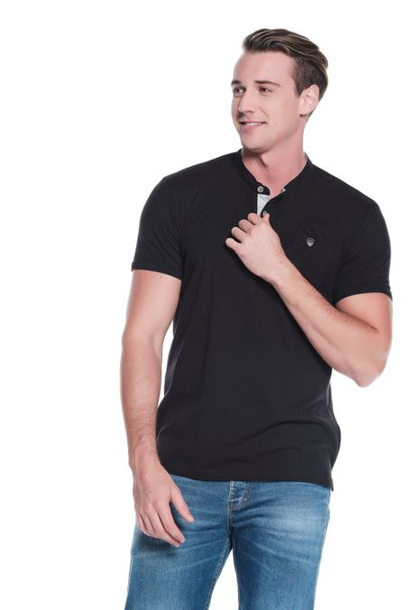 Polo-QUEST-Slim-Fit-QUE162OU0001-19-Negro-1