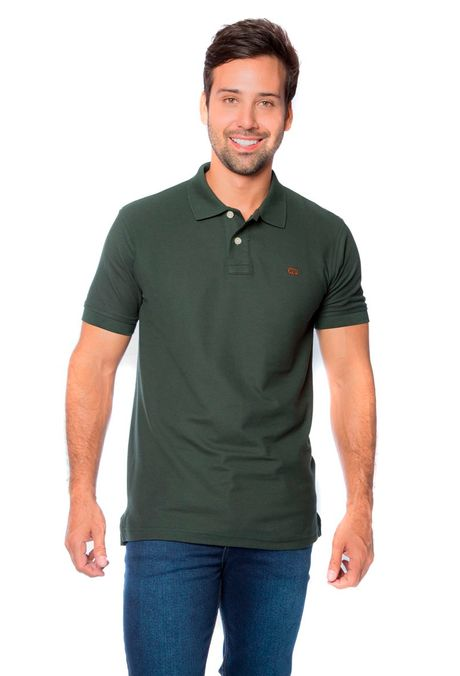Polo-QUEST-Slim-Fit-QUE162BA0012-132-Verde-Militar-Oscuro-1