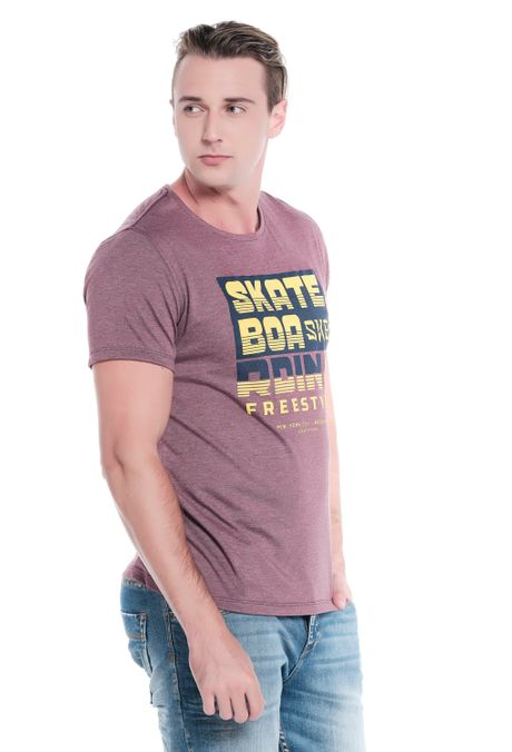 Camiseta-QUEST-Slim-Fit-QUE163LW0104-153-Vino-Cross-2