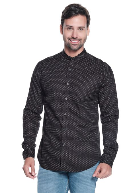 Camisa-QUEST-Slim-Fit-QUE111LW0035-19-Negro-1