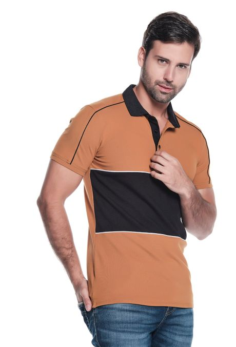Polo-QUEST-Slim-Fit-QUE162190131-1-Ocre-2