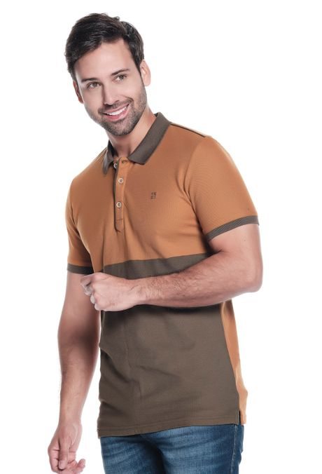 Polo-QUEST-Slim-Fit-QUE162OU0027-1-Ocre-2