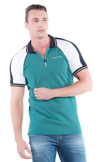 Polo-QUEST-Slim-Fit-QUE162190173-131-Verde-Pino-1