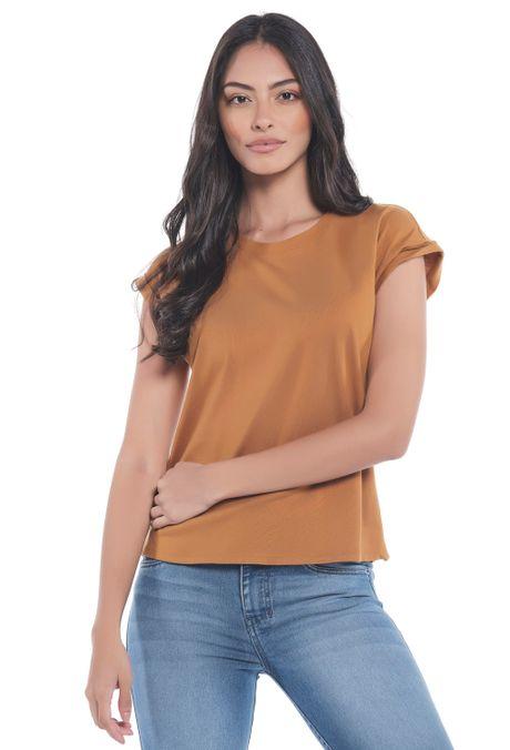 Camiseta-QUEST-Custom-Fit-QUE263LW0050-1-Ocre-1