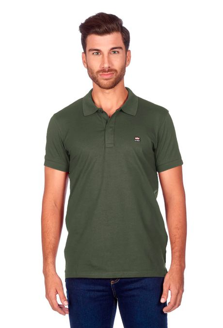 Polo-QUEST-Slim-Fit-QUE162BA0011-123-Verde-Oliva-1