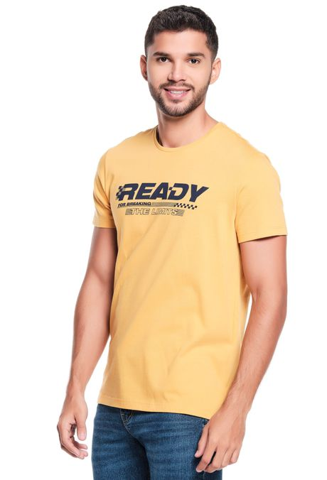 Camiseta-QUEST-Slim-Fit-QUE163LW0124-50-Mostaza-1