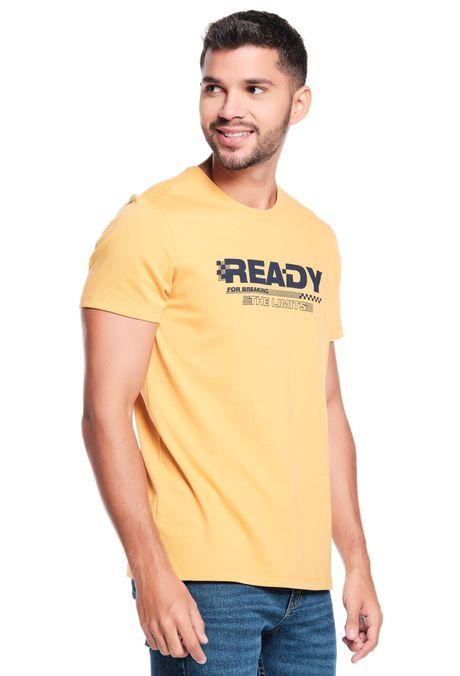 Camiseta-QUEST-Slim-Fit-QUE163LW0124-50-Mostaza-2