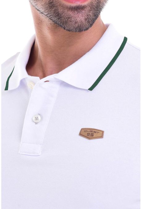 Polo-QUEST-Slim-Fit-QUE162010002-129-Blanco-Verde-Militar-2