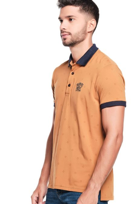 Polo-QUEST-Slim-Fit-QUE162200082-1-Ocre-2