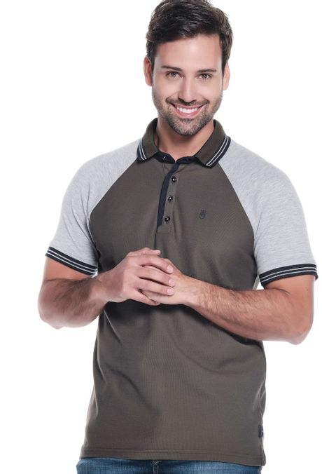 Polo-QUEST-Original-Fit-QUE162190130-132-Verde-Militar-Oscuro-1