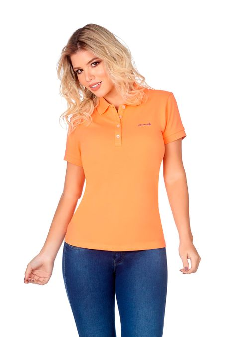 Polo-QUEST-Slim-Fit-QUE262BA0008-82-Melon-1