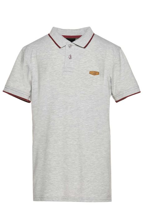 Polo-Tipping-Quest-Color-Gris-Jaspe-Claro-Talla-XXL